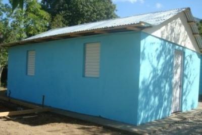 Una de las casas reparadas.