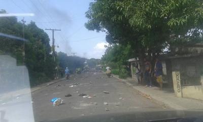 Continúan las protestas en Villa La Mata por falta de agua potable: