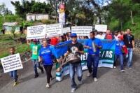 Marchan en Baitoa por la construcción de un acueducto: