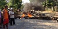 Protestan en Los Miche por apagones: