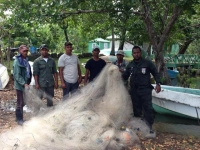 Incautan redes de pesca en bahía San Lorenzo: