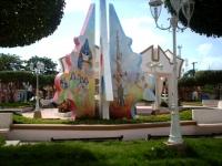 Monumento en el parque de Cevicos.