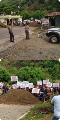 Obreros protestan por empleos a la empresa EGEHID Piedra Blanca