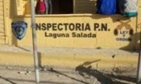 Local policial en la Guna Salada en mal estado