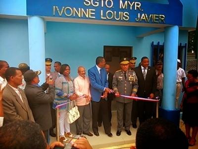 Jefe de Policia Nacional inaugura cuartel policial en Guaymate