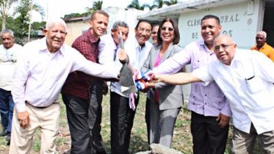 Realizan primer picazo reconstrucción de Clínica en Hostos: