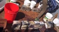 Apresan siete hombres con 79 paquetes drogas en alta mar: