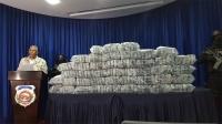Droga descomisada presentada por la DNCD.