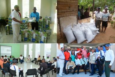 Varios momentos muestran el apoyo recibido por los pequeños y medianos productores agrícolas reciben el apoyo del Fondo Provincial Milanés para la Cooperación Internacional con el apoyo de varias organizaciones y Fedomu.
