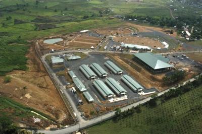 Vista aérea del Centro Ecuestre Palmarejo en el distrito municipal Palmarejo-Villa Linda, del municipio Los Alcarrizos en la provincia Santo Domingo.