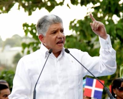 Eduardo Estrella, presidente del Partido Dominicanos por el Cambio.