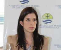 Gerente general de Luz y Fuerza, ingeniera Alejandra Orsini