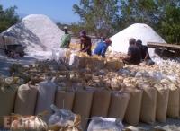 Foto de almacenamiento de sal en Jaquimeyes.