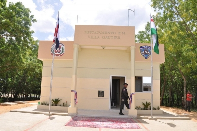 Destacamento policial del distrito municipal Villa Gautier.