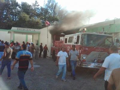 Fuego en el Hospital del municipio de Cambita causa pánico :