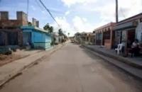 Empresa asfalta calles con cemento municipio Quisqueya