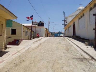 Una de las calles del municipio de Jánico en la provincia Santiago de los Caballeros.
