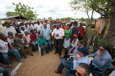 Presidente Danilo Medina en la comunidad El Gato, en el Distrito Municipal Cumayasa, la Romana.